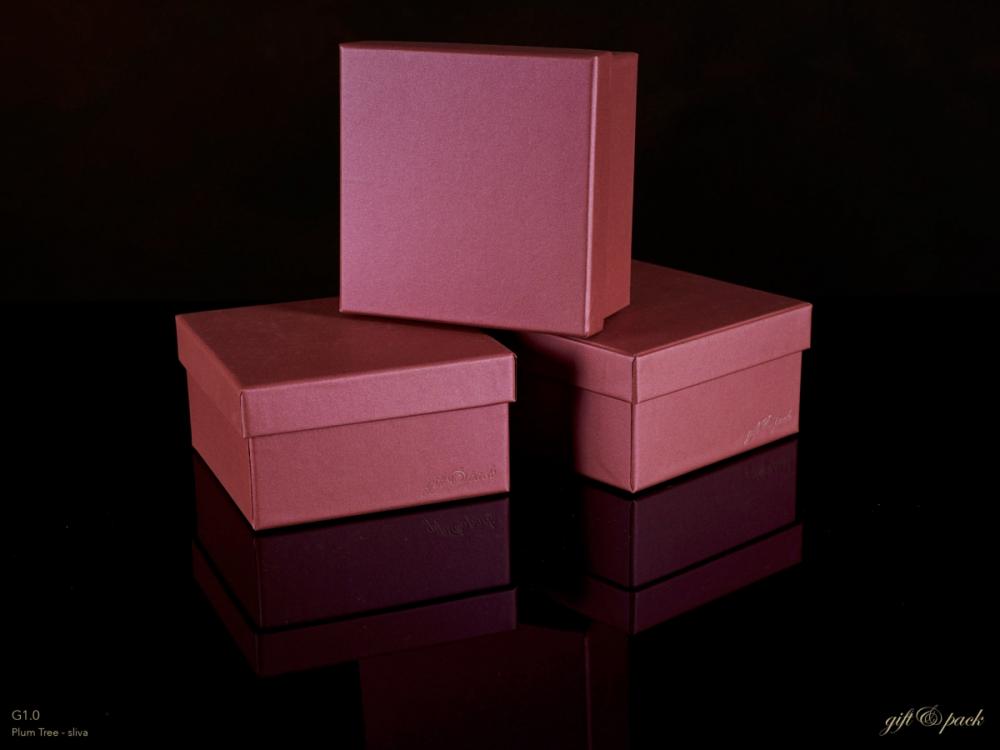 Darilna škatla G1.0 R110X110X60mm SLIVA
