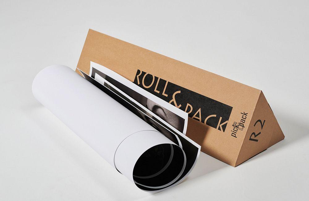 ROLL&PACK - trikotne škatle za pošiljanje zvitkov