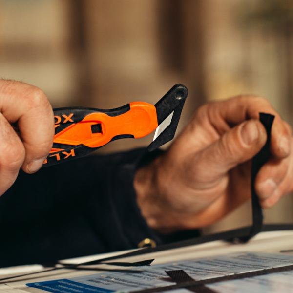 Varni nož Klever Xchange single oranžni