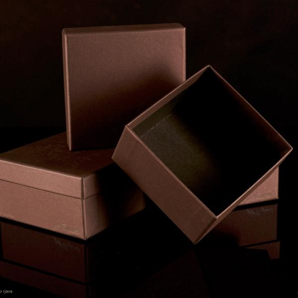 Darilna škatla G1.0 R110X110X60mm KAMNITO RJAVA