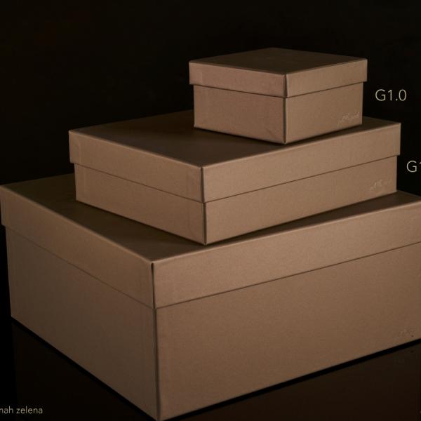 Darilna škatla G1.2 R245X195X65mm MAH - ZELENA