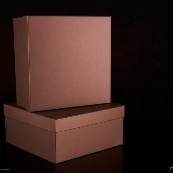 Darilna škatla G1.3 R300X300X140mm KAMNITO RJAVA
