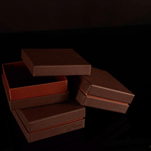 Darilna škatla G2.0 RS110X110X40mm KAVNO RJAVA
