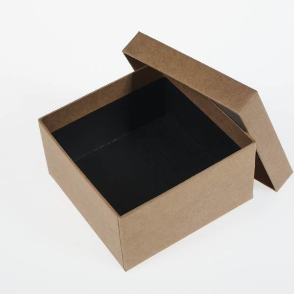 Darilna škatla G1.0 R110X110X60mm NATUR KRAFT
