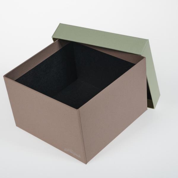 Darilna škatla G1.1 R150X150X100mm MANDELJ - KIVI