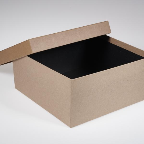 Darilna škatla G1.3 R300X300X140mm NATUR KRAFT